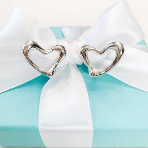 Tiffany & Co. Elsa Peretti Open Heart Ear Clips